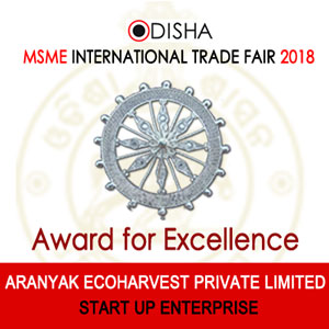 Aranyak receives Excellence Award Start-up category by MSME, Odisha